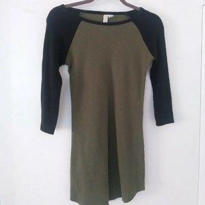 Dresses & Skirts - Green and black dress :)